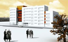 Contest Proposal for 97 housing units at plot A11 los Molinos Area in Móstoles (Madrid) - by SI Architects