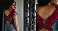 Applique and stone mirror work on a blouse (Shot for Studio 149 by Swathi by Eye-be.com)
