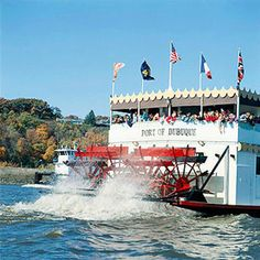 Taking a lunch or dinner cruise is a great thing to do when visiting Dubuque.  We offer a couple of options, The Spirit of Dubuque, pictured here, or the American Lady, a Yacht cruise.