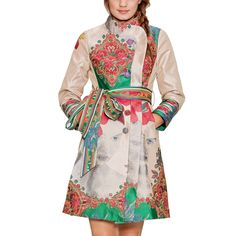 Printed Tie Coat by Desigual