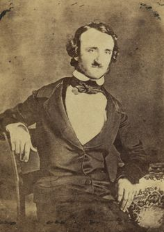 Edgar Allan Poe - cabinet card, photographer unknown. Eighth grade obsession.