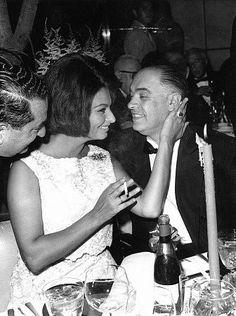 Sophia Loren with husband Carlo Ponti, 1962.
