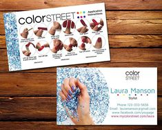 Color Street Business Cards Color Street Application Color