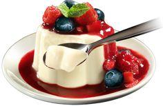 Panna Cotta Diet de Iogurte com Frutas Silvestres