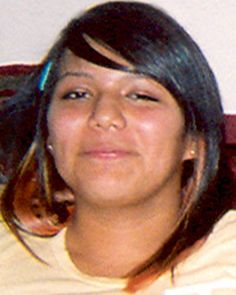 "Missing Teen: Angela Rene Jaramillo --TX-- 01/23/2010; Height:  5'8"" (173 cm)  Eyes:  Brown   Race:  Hispanic  Age at time of disappearance:  16  Sex:  Female  Weight:  190 lbs (86 kg)  Hair:  Black    Her ears and tongue are pierced. Angela may go by the nickname Angie.     ANYONE HAVING INFORMATION SHOULD CONTACT  National Center for Missing & Exploited Children  1-800-843-5678 (1-800-THE-LOST)"