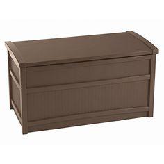 Buy Suncast 50 Gallon Capacity Resin Outdoor Patio Storage Deck Box, Mocha Brown at Wish - Shopping Made Fun