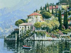 Hills of Lake Como by Howard Behrens