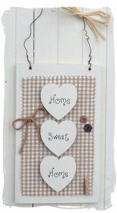 Home Sweet Hme, ook leuk om als kaart te gebruiken met een harten pons.