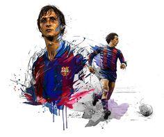 Johan cruyff on behance sports graphics, fc barcelona, behance, batman, zel Football Design, Sport Football, Football Stuff, Good Soccer Players, Football Players, Fc Barcelona, Sports Graphics, Football Wallpaper, Sport Body