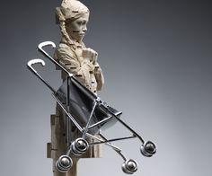 Gehard Demetz - Contemporary Artist - Wood Sculpture - 2009 - I have dreamed in German.