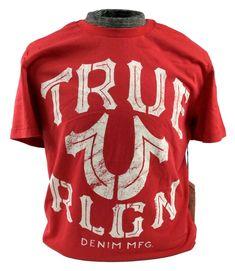 959d96a737b TRUE RELIGION T-Shirt Graphic Logo Top Mens Tee Red Shirt Crew Neck L XL  2XL NWT  TrueReligion  GraphicTee