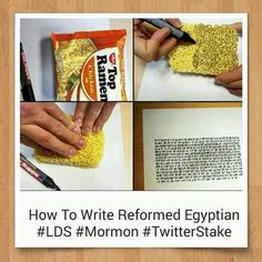 """How to Write """"Reformed Egyptian"""" #Mormon #LDS #TwitterStake"""