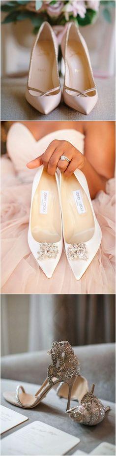 Elegant wedding shoes #bridalfashion #weddingshoes #bridalshoes