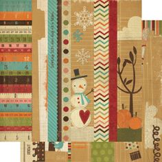 Memory Works - Simple Stories - Year-o-graphy Collection - 12 x 12 Double Sided Paper - Border and Title Strip Elements at Scrapbook.com $1.09
