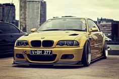 BMW E46 M3 yellow