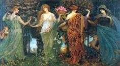 The Goddess. Mother Earth. Mother Nature.  The Masque of the Four Seasons  By Walter Crane  Date: circa 1903-9