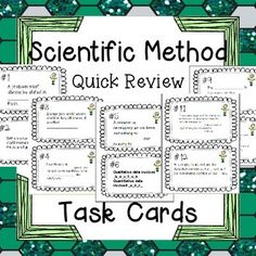 I love putting task cards all over my room and having students race to find them and fill in their answer key. This little pack contains 20 task cards, recording sheet, and answer key to review the scientific method. The questions are appropriate for grades 7-10 and there is a slight emphasis on independent and dependent variables.