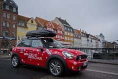 MINI Countryman takes a breather in colorful Copenhagen on the way to the Arctic Circle for a visit to Santa.