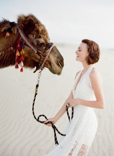 Photos by Jose Villa -- i would love to shoot with a camel someday! perfect.