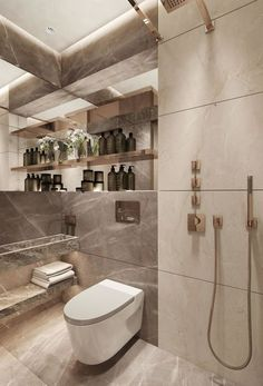 Bathroom Decor themes Modern Bathroom has never been so Stylish! Since the beginning of the year many girls were looking for our Lovely guide and it is finally got released. Now It Is Time To Take Action! Washroom Design, Toilet Design, Bathroom Design Luxury, Modern Bathroom Design, Bad Inspiration, Bathroom Inspiration, Dream Bathrooms, Small Bathroom, Luxury Bathrooms