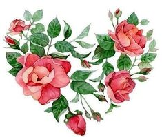 Illustration about Watercolor floral abstract heart of roses. Illustration of plant, greeting, holiday - 37557191 Watercolor Heart, Watercolor Flowers, Watercolor Paintings, Heart Art, Love Heart, Flower Frame, Flower Art, Valentines Watercolor, Heart Illustration