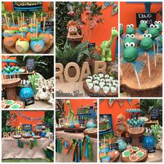 Bizzie Bee Creations 's Birthday / Baby Boy Birthday Themes, 2nd Birthday Party For Boys, Dinosaur First Birthday, Second Birthday Ideas, Dinosaur Party Decorations, The Good Dinosaur, First Birthdays, Party Ideas, Dinasour Party