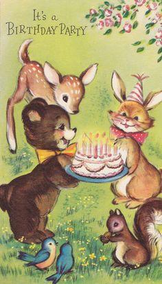 1950s Vintage Party Invitation Card