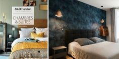 Before and after: a Parisian apartment enhanced by modern decoration M - Gutzg Sites Marie Claire, Rose Marie, Parisian Apartment, Marrakech, Modern Decor, Decoration, Tiny House, Bed, Carpets