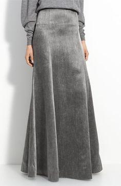 Theyskins Theory Floor Length Skirt in Grey : Minimal + Classic