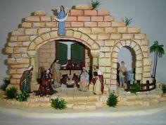 Imagen relacionada Christmas Diy, Merry Christmas, Christmas Decorations, Xmas, Christmas Ornaments, Ceramic Houses, Portal, Decoupage, Flowers