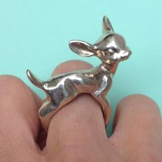 Deer Ring. $100.00, via Etsy.