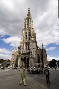 Amazing Gothic Cathedral in Ulm Germany Inside is a tiny narrow circular staircase where