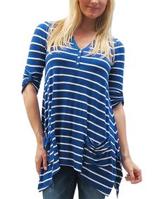 Loving this Blue Lavender & White Bailey Top on #zulily! #zulilyfinds 52.99