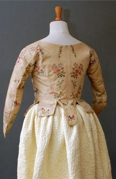 Brocade Jacket  1780-90  Very attractive.
