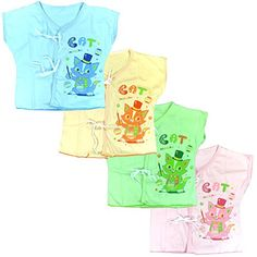 Lucky Lucky 4 Pack Tops Tee for Unisex Newborn Cotton Softness  Baby Shirt >>> Click image for more details.Note:It is affiliate link to Amazon. #followall