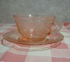 Federal Glass Pink Normandie Bouquet Cup and by MyRetroCharm, $10.75