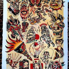 67 Ideas tattoo old school arm american traditional flash art Flash Art Tattoos, Sanduhr Tattoo Old School, Old School Tattoo Designs, Neotraditionelles Tattoo, Tatto Old, Tattoo Tradicional, Kunst Tattoos, Traditional Tattoo Design, American Traditional Tattoos