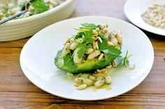 Avocado Bowls with Citrus Herb White Bean Salad