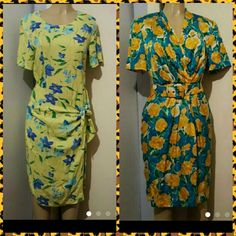 Size 8 trench floral belted dress midi Both size 8 great condition Dresses Midi