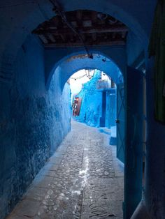The Blue Medina, Arched Walkway, Moroco - prints on Etsy