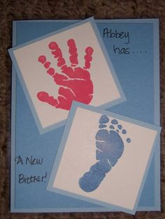 Big Sister has a Little Brother! by Hilary1987 - Cards and Paper Crafts at Splitcoaststampers