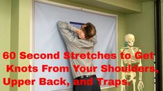 """Famous"" Physical Therapists Bob Schrupp and Brad Heineck demonstrate 60 second stretches you can perform to get rid of those painful Knots in your shoulders..."