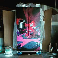Alice in Wonderland theme fridge wrap