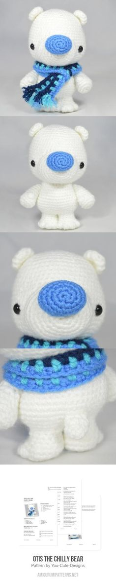 Otis the Chilly Bear amigurumi pattern