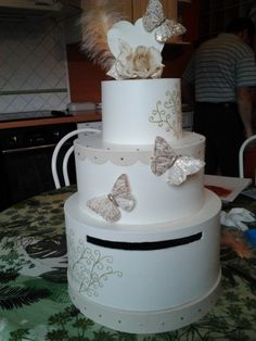 carton mariage urnes en mariage anniversaire gteau de mariage mariage decoration mariage yona tiers wedding - Urne Mariage Moto