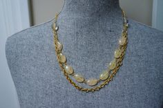 Yellow And Gold Necklacemade in Canada by LinksLocks on Etsy, $20.00