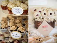 Mini Cupcakes and Pies - Berkshire Hills Fall Wedding - Tricia McCormack Photography