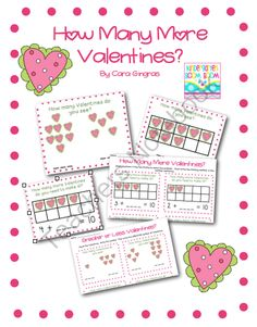 How Many More Valentines? - Common Core from Kindergarten Boom Boom on TeachersNotebook.com -  (9 pages)  - This is a set of three math games that can be used in cooperative learning, independent practice, and as center activities.