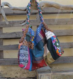 Patchwork bag  Over sized bag  Large bag  Funky by KennaInAfrica