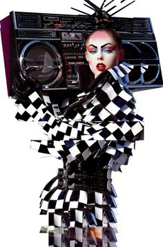 Coco Rocha in Gareth Pugh by Steven Meisel for Vogue Italia